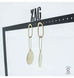 Zag Bijoux Zag Bijoux Earring Triple Goudkleurig