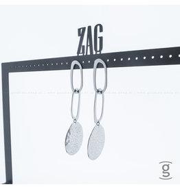 Zag Bijoux Zag Bijoux Earring Triple Zilverkleurig