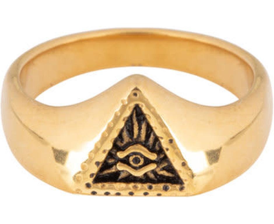 Charmin*s Charmin's R677 Eye Triangle Gold Steel