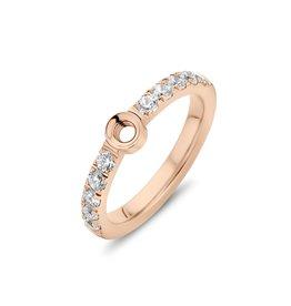 Melano Melano Twisted Crystal Ring Rosé