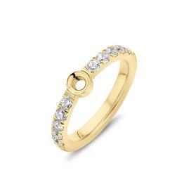 Melano Melano Twisted Crystal Ring Goudkleurig