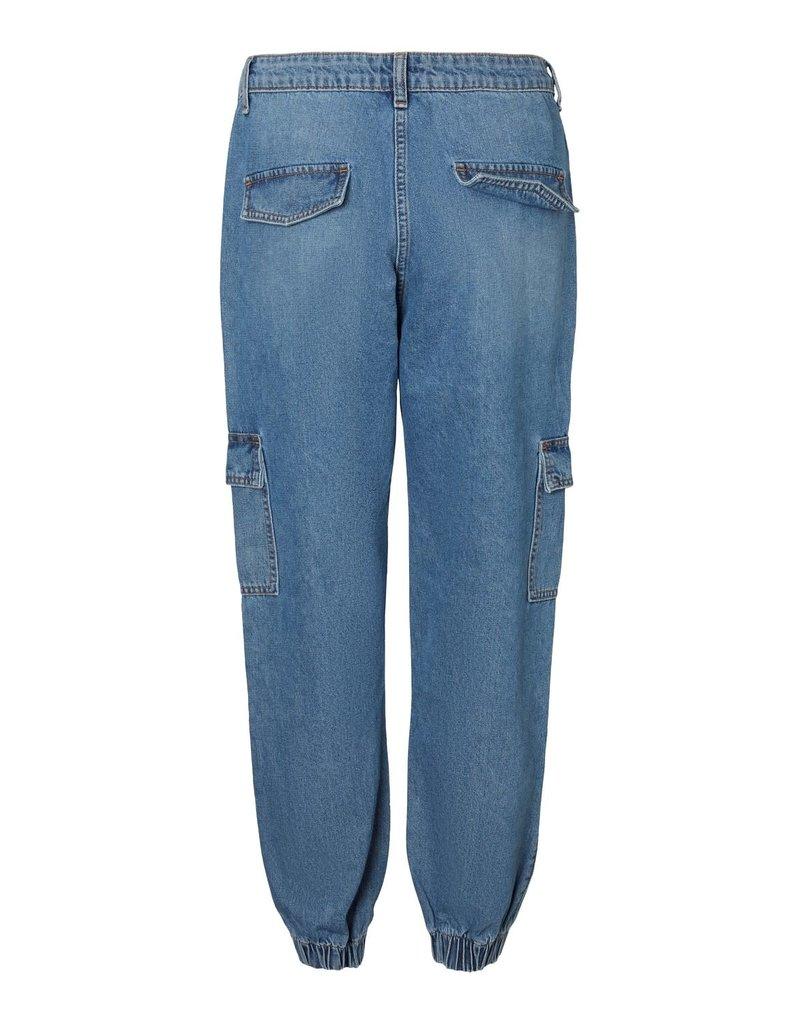 Noisy May Noisy May NM Cara Mia Cargo Pants Medium Blue Denim