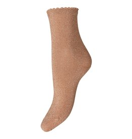 Pieces Pieces PC Sebby Glitter Long Socks Toasted Coconut