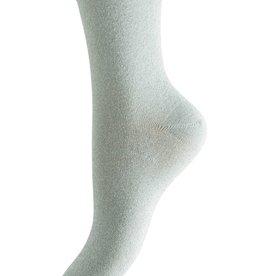 Pieces Pieces PC Sebby Glitter Long Socks Silver Lurex