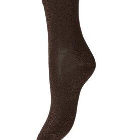 Pieces Pieces PC Sebby Glitter Long Socks Chocolate Plum