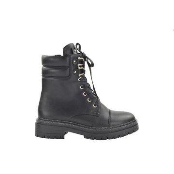 Fabs Shoes Fabs Shoes Enkellaars Zwart Met Veters