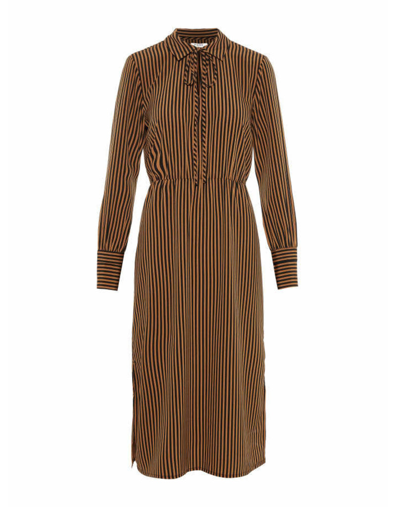 Pieces Pieces PC Henny Midi Dress Toasted Coconut Stripes
