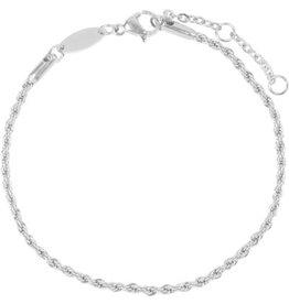 Charmin*s Charmin's CB24 Twisted Bracelet Shiny Steel