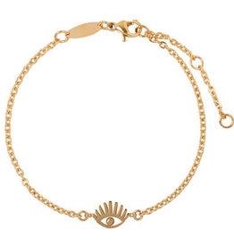 Charmin*s Charmin's CB33 Lashes Bracelet Gold Steel