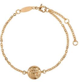 Charmin*s Charmin's CB35 Coin of Power Bracelet Gold Steel