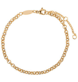 Charmin*s Charmin's CB43 Round Shackle Bracelet Gold Steel