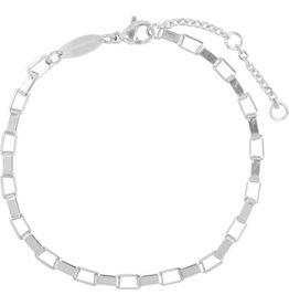 Charmin*s Charmin's CB48 Rectangle Shackle Bracelet Shiny Steel