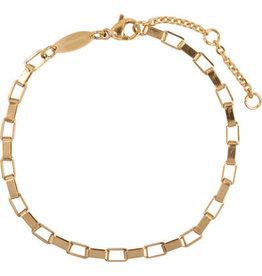 Charmin*s Charmin's CB49 Rectangle Shackle Bracelet Gold Steel