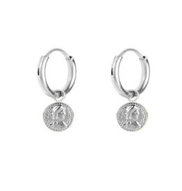 Charmin*s Charmin's E51 Roman Coin Earrings Shiny Steel