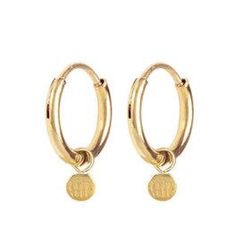 Charmin*s Charmin's E56 Historic Coin Earrings Gold Steel