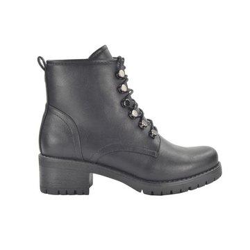 Fabs Shoes Fabs Shoes Enkellaar Zwart Met Veters