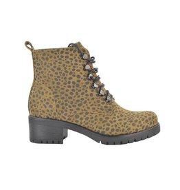 Fabs Shoes Fabs Veterboots Animal Print Bruin/Zwart