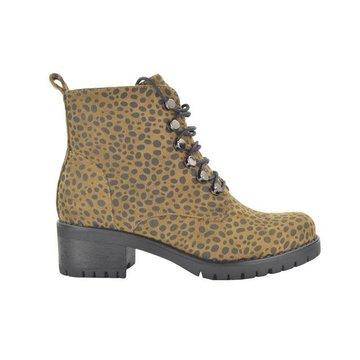 Fabs Shoes Fabs Shoes Enkellaars Panterprint Bruin/Zwart