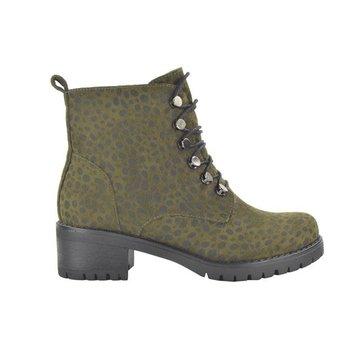 Fabs Shoes Fabs Shoes Enkellaars Panterprint Groen