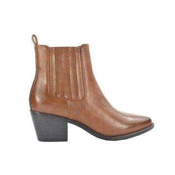 Fabs Shoes Fabs Shoes Enkellaars Bruin Met Hak