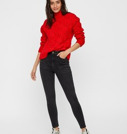 Pieces Pieces PCJImma High Neck Knit Racing Red