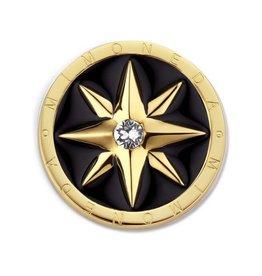 Mi Moneda MM Polar Black Coin Small Goudkleurig