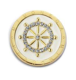 Mi Moneda MM Timón White Coin Small Goudkleurig