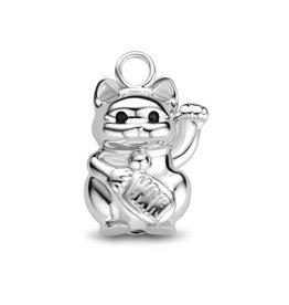 Mi Moneda MMM Charm Lucky Cat CZ 925 Zilver