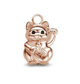 Mi Moneda MMM Charm Lucky Cat CZ Rosé