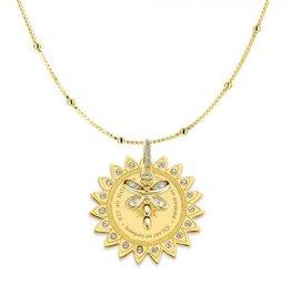 Mi Moneda Monogram MMM Dragonfly Necklace Set Goudkleurig