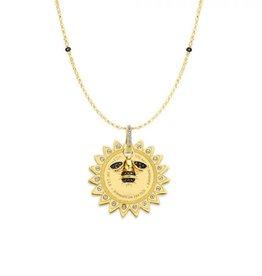 Mi Moneda Monogram MMM Sun And Bee Necklace Set Goudkleurig