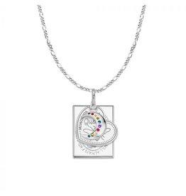 Mi Moneda MMM Love Moon Necklace Set Zilver
