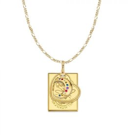 Mi Moneda Monogram MMM Moon Love Necklace Set Goudkleurig