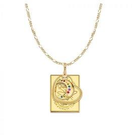 Mi Moneda MMM Moon Love Necklace Set Goudkleurig