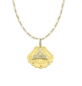 Mi Moneda Monogram MMM Shell Necklace Set Goudkleurig