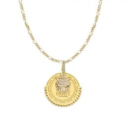 Mi Moneda Monogram MMM Be Brave Necklace Set Goudkleurig
