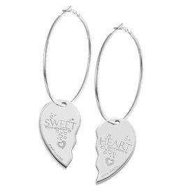 Mi Moneda Monogram MMM Sweet Heart Earring Set Zilver