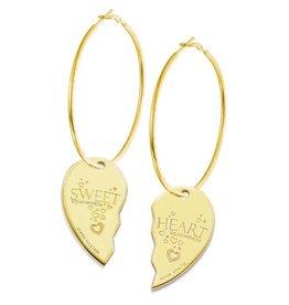 Mi Moneda Monogram MMM Sweet Heart Earring Set Goudkleurig