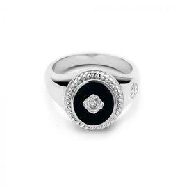 Mi Moneda MMV Icons Ring Set Rose Zwart/Zilver