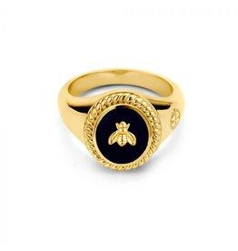 Mi Moneda MMV Icons Ring Set Bee Zwart/Goudkleurig