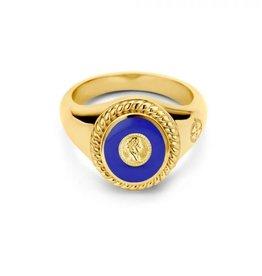 Mi Moneda Vintage MMV Icons Ring Set Roman Coin Blauw/Goudkleurig