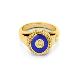 Mi Moneda MMV Icons Ring Set Roman Coin Blauw/Goudkleurig