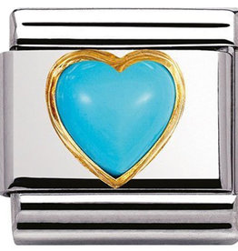 Nomination Nomination Link 030501/06 Turquoise Heart