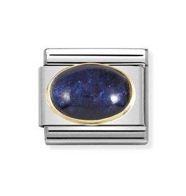 Nomination Nomination Link 030516/04 Rock Crystal Blue Leaf