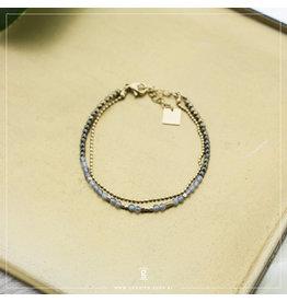 Zag Bijoux Zag Bijoux Bracelet Tiny Labradorite Stones Goudkleurig