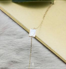 Zag Bijoux Zag Bijoux Bracelet Rock Crystal Shield Goudkleurig