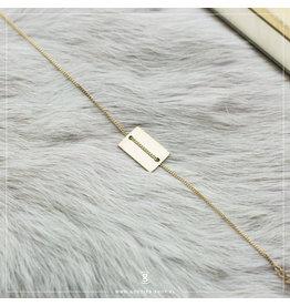 Zag Bijoux Zag Bijoux Bracelet Rectangle Goudkleurig
