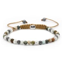 Karma Karma Bracelet 84378 Spiral Line of Art xxs (white crystal)
