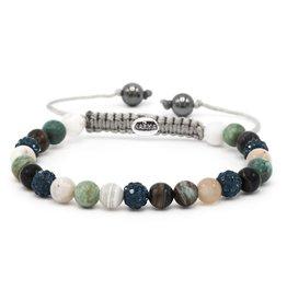 Karma Karma Bracelet 83461 Spiral Lace Up XS (blue crystal)