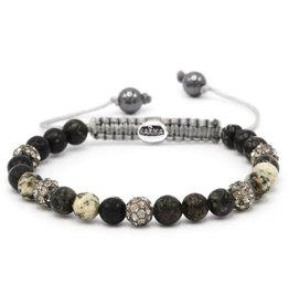 Karma Karma Bracelet 83480 Spiral Mockingbird XS (grey crystal)